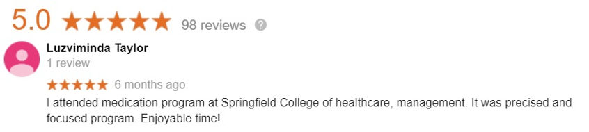 springfield College Med Admin student review