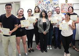 EKG Certificate students