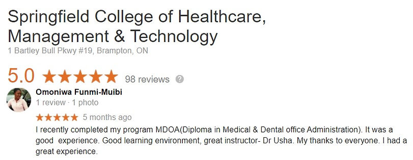 Medical Dental Office Student review