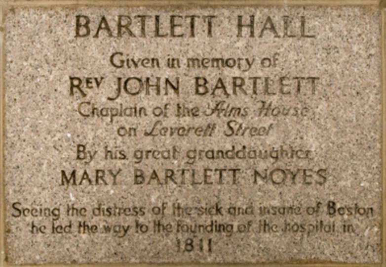 Plaque for John Bartlett