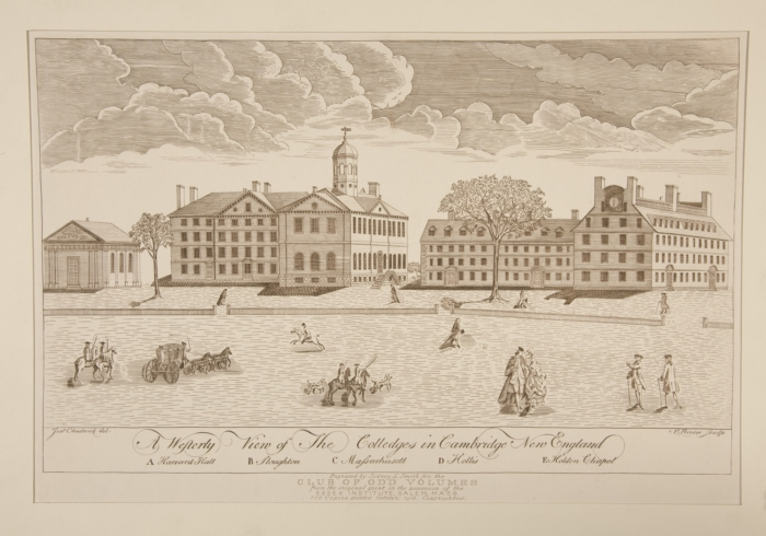 Engraving of Harvard College