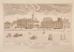 Engraving of Harvard College