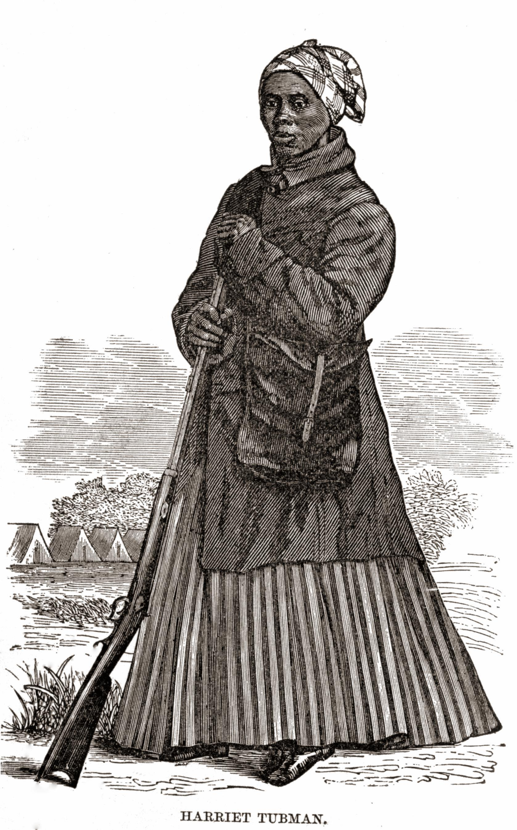 Harriet Tubman Woodcut