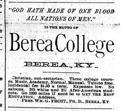 Berea College Ad