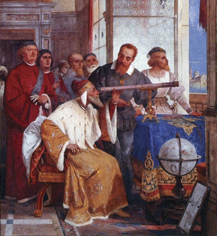 Fresco of Galileo
