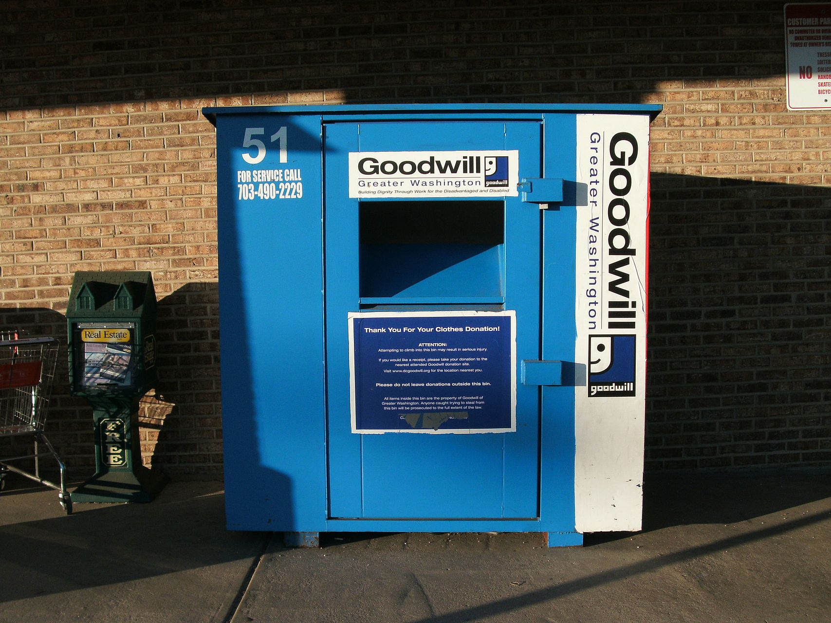 Goodwill donation drop off