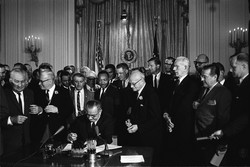 Signing of the Civil Rights Act