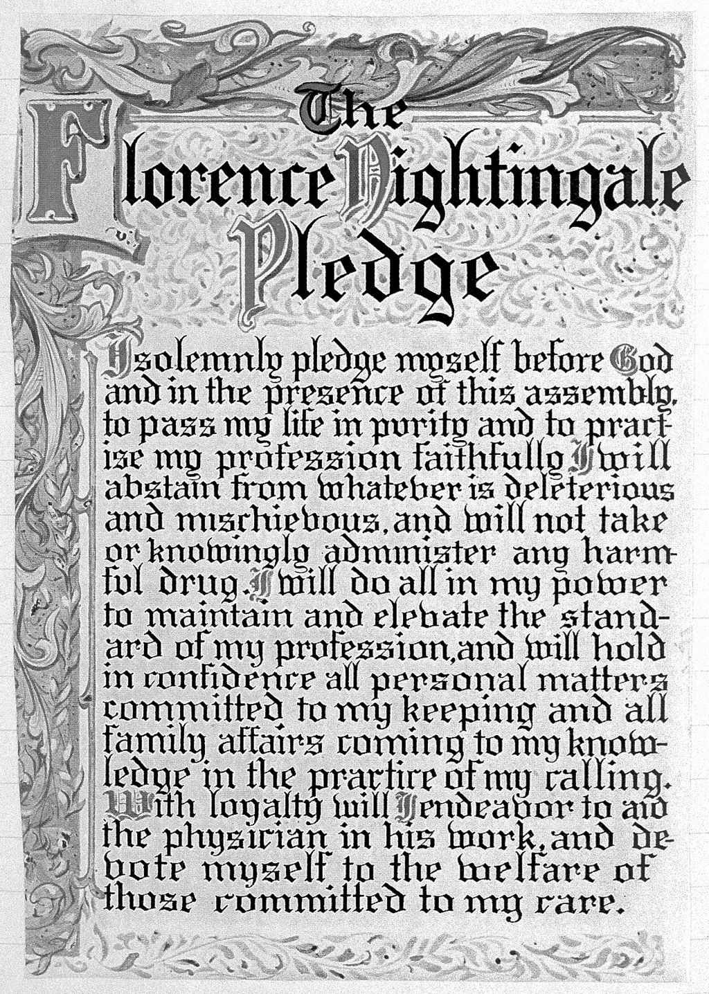 Pledge of Florence Nightingale