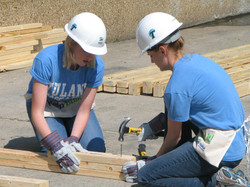 Working at a Habitat site