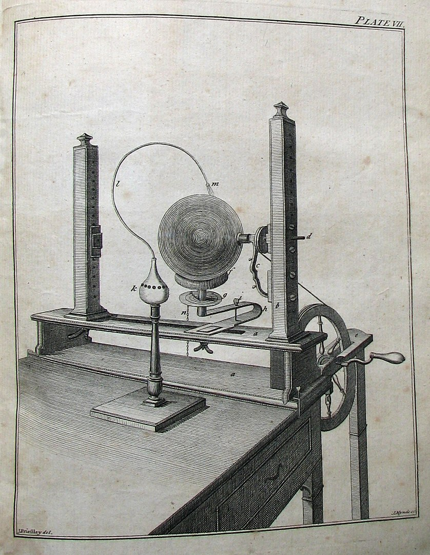 "Priestley's ""electrical machine"""