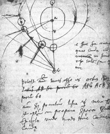 Tycho Brahe notebook