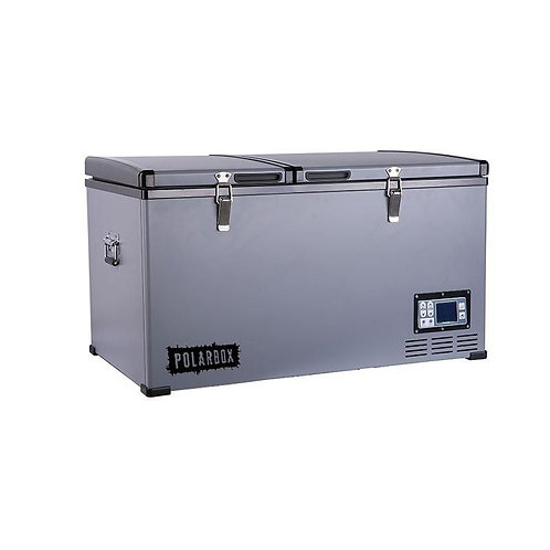 Polarbox 125L Stainless Compressor Fridge 12v 24v Dual Compartment