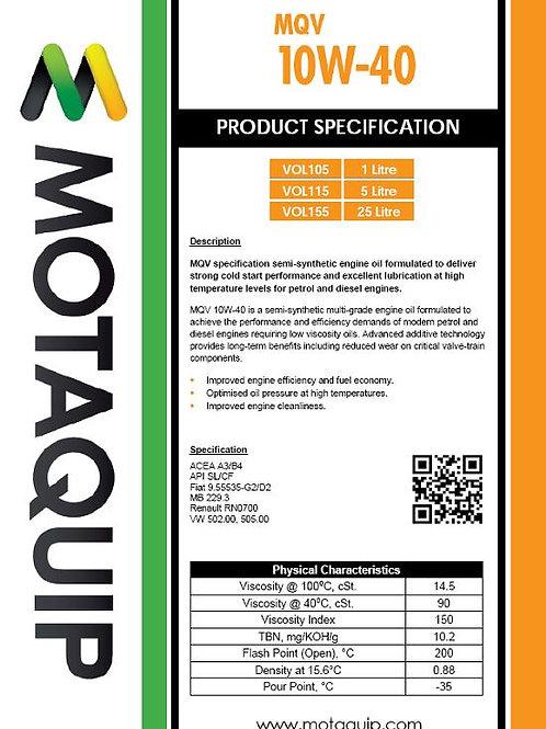 10W40 SEMI SYNTHETIC OIL MQV 5L - VOL115