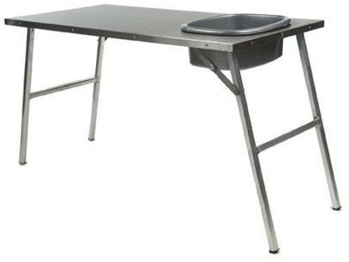 STAINLESS STEEL PREP TABLE W/ BASIN - TBRA004