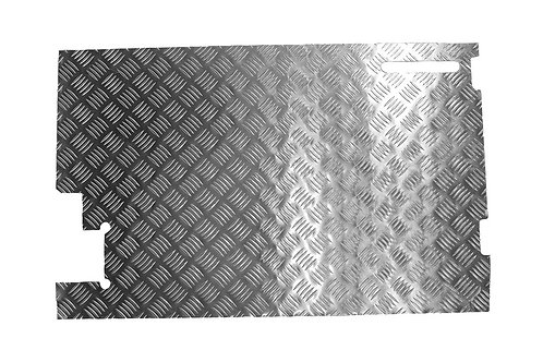 2MM INNER DOOR CHEQUER PLATE SUITABLE FOR DEFENDER VEHICLES WITHOUT REAR WIPER