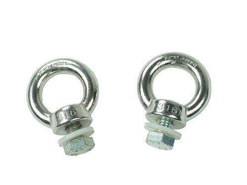 S/S STEEL TIE DOWN RINGS FRONT RUNNER RRAC025