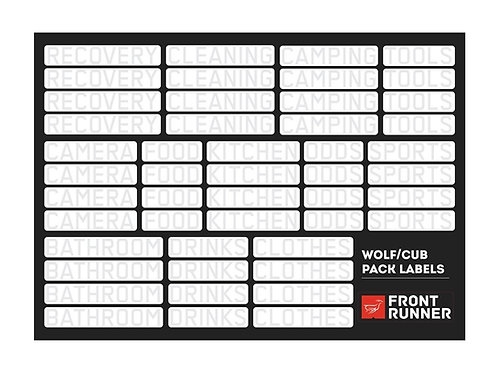 WOLF/CUB PACK CAMPSITE ORGANIZING LABELS - BY FRONT RUNNER - SBOX026