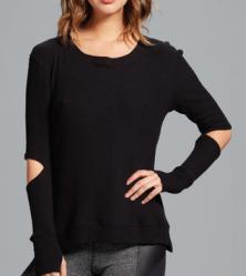 Cassidy Split-Elbow Sweater