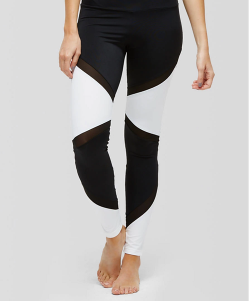 Callie Color-Block Mesh Leggings