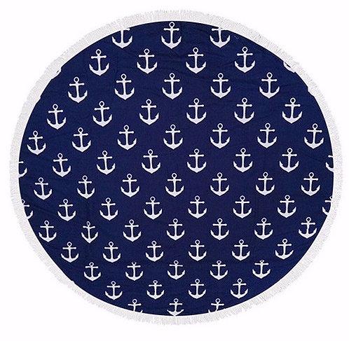 Anchors Away Nautical Beach Towel