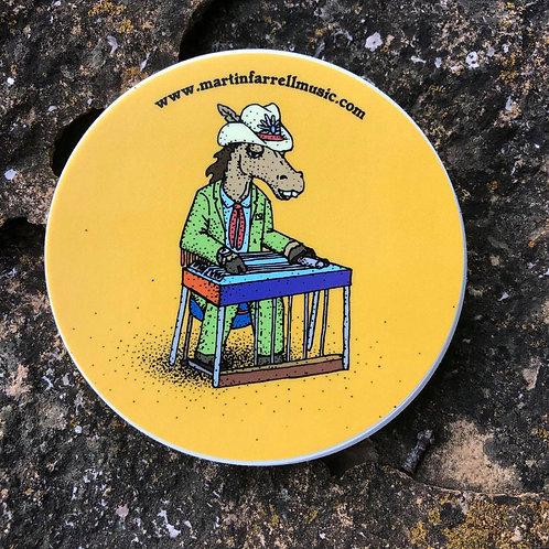 """Steel Horse"" Circle Sticker - 3"""