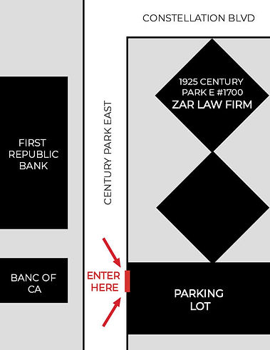 Parking Map: The lot is across from the Banc of CA, on Century Park East.