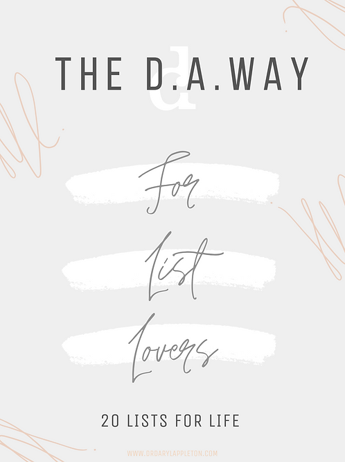 THE D.A. WAY | List Lovers