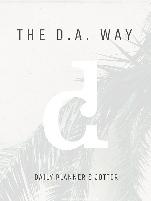 THE D.A. WAY | E-Planner & Jotter