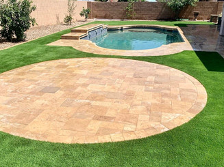 Both Paver & Synthetic Grass Design