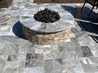 Firepit Designed with Pavers