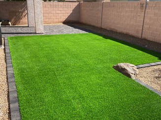 Paver & Synthetic Grass Combination