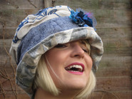 One of Jill's many colourful hat designs