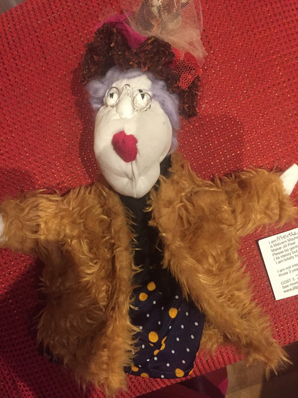 Queenie. One of Jill's puppets