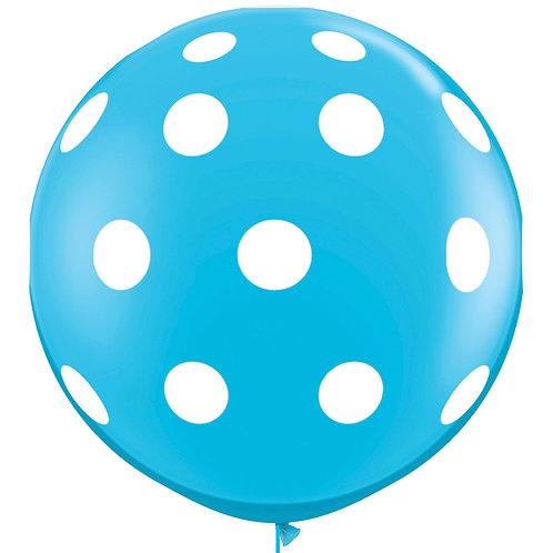 """36"""" Blue Polka Dot Balloon"""