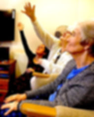 JABADAO in dementia care. Dancer working in dementia home