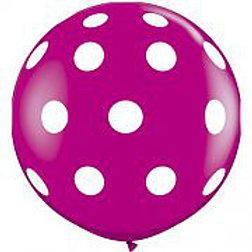 "36"" Wild Berry Polka Dot"