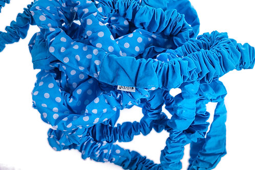 Blue & Spotty Elastic