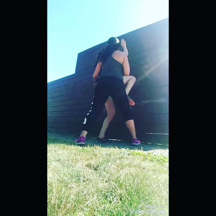 Working it out with my girl @lexdiraimo, preparing for our @tough_mudder on August 4th.  This was Alexas first time over a wall.  Great great job girl.    #toughmudderwesternny #toughmudder #toughmudderbootcamp #train #trainhard #havefun #mindset #yo