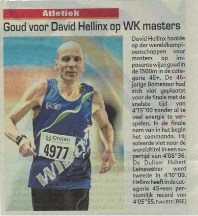 David Hellinx Wereldkampioen