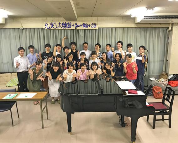東京農業大学混声合唱団Hallen chorの皆さんと。  2017.9