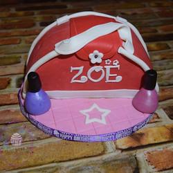 American Girl inspired handbag cake for