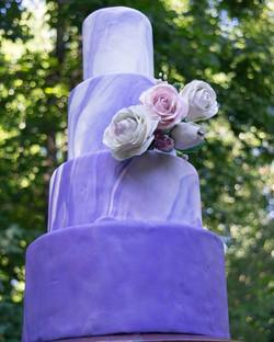 10/8/6/4 fondant wrapped with gumpaste florals $1000
