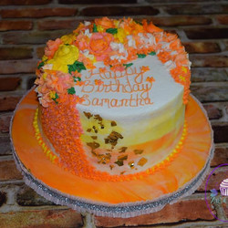 Lemon, lime, and orange layered cakes, w