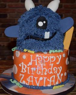 This Lil' Monster's 1st Birthday cake wa