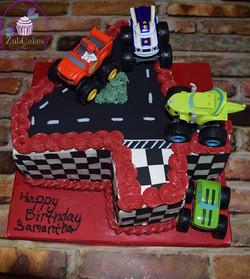 Girls like trucks too!  Happy 4th Birthd