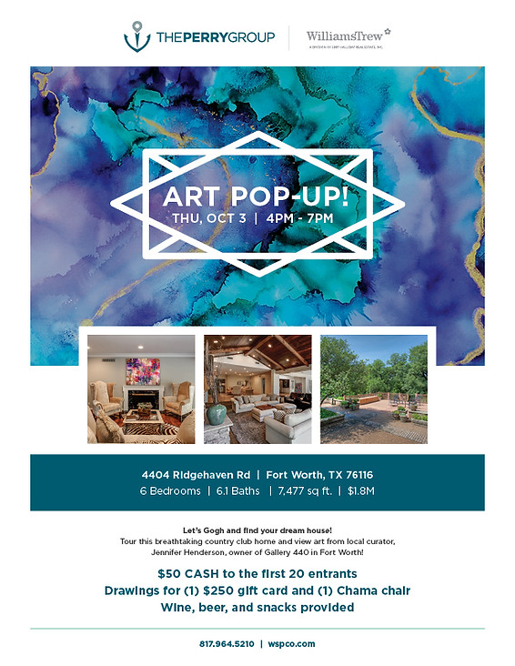 The Perry Group Art Pop-Up Flyer