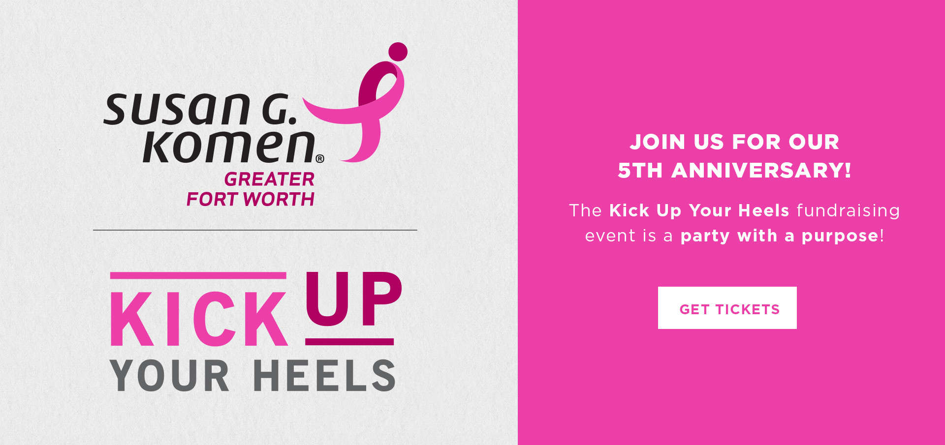 Komen Greater Fort Worth Event Banner