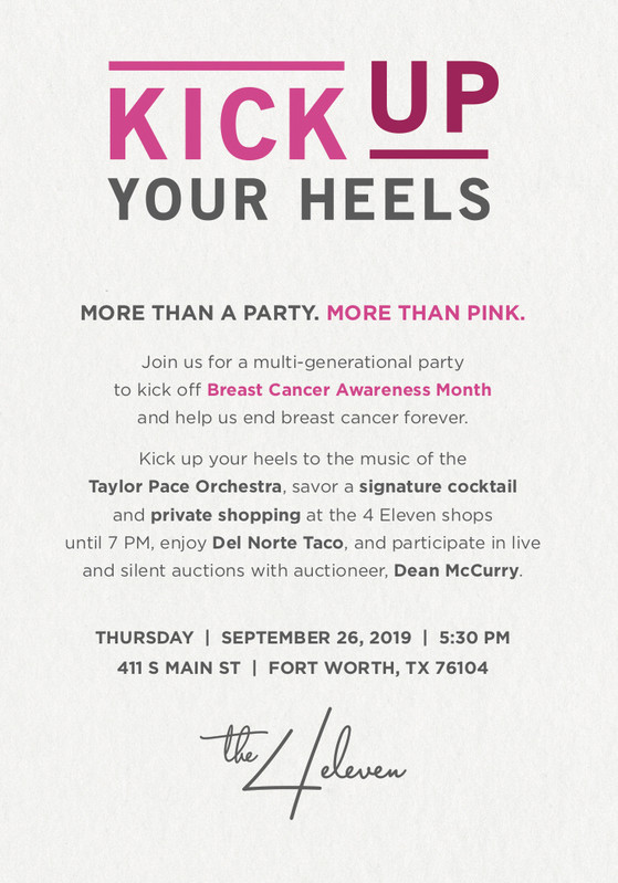 Komen Greater Fort Worth Invitation