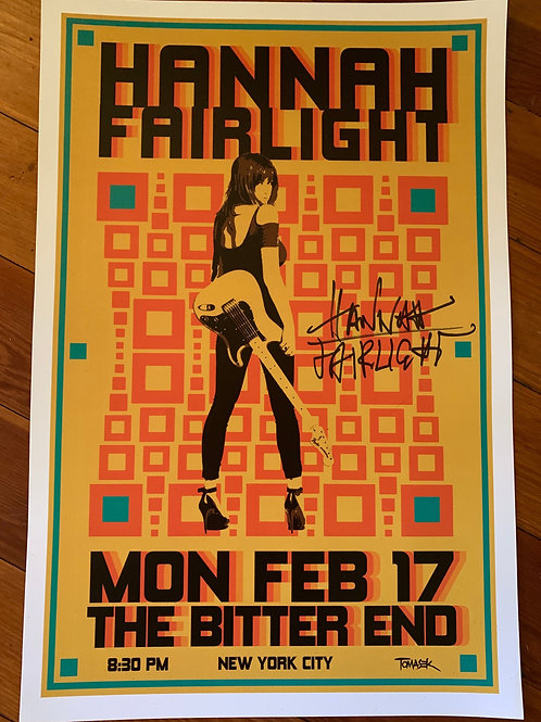 SIGNED HF SHOW POSTER - THE BITTER END, NYC