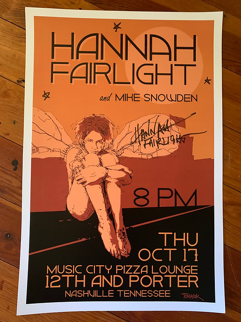 SIGNED HF SHOW POSTER - 12th and Porter NASHVILLE